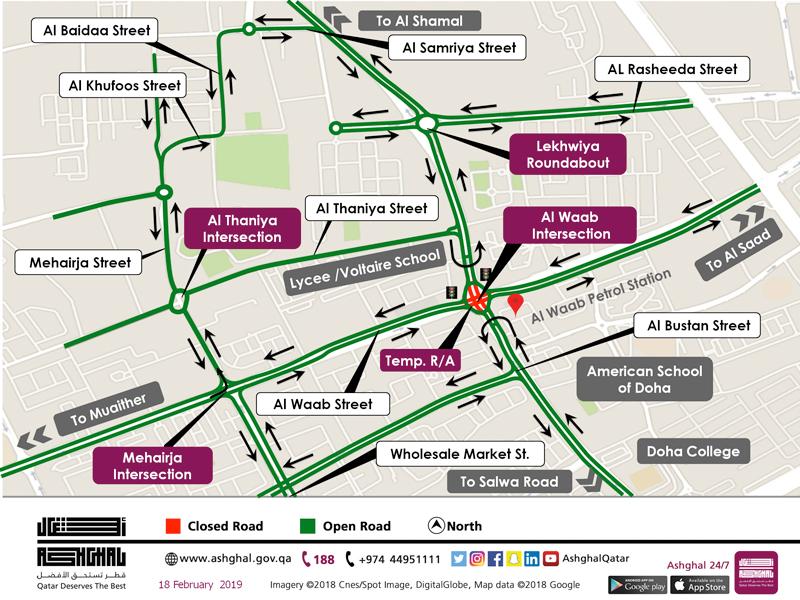 Opening of Temporary Signalised Roundabout at Al Waab Al